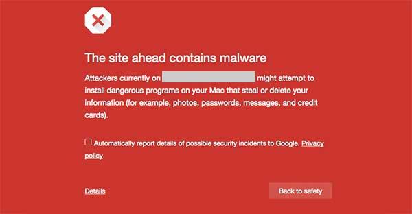 hacked website message