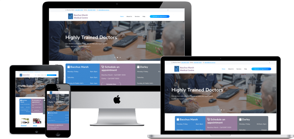 medical centre website designer